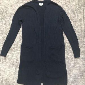 Navy blue long cardigan
